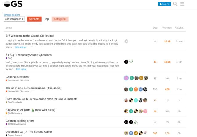 Web anmeldelse - Go forum på OGS